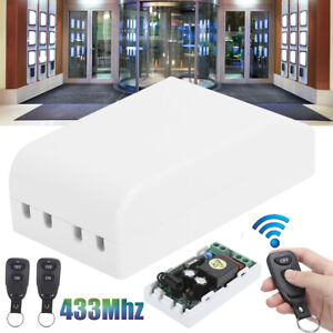 Wireless 433Mhz Remote Control 2Buttons With Relay For Home Light AC180-240V