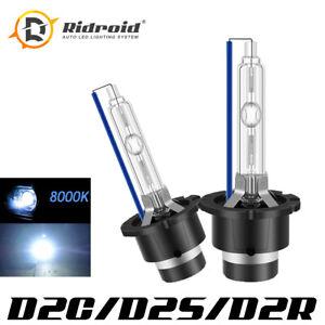 PAIR 8000K D2S D2R D2C HID Xenon Bulbs Factory Headlight HID Replacement Blue