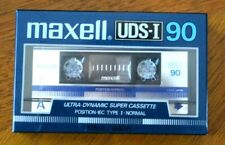 Maxell * UDS-I 90 * IEC TYPE I * Normal * Blank Audio Cassette Tape New Sealed