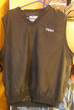 VINTAGE ZIPPO MOTOR SPORTS LOGO MEN'S LARGE GOLF BLACK VEST