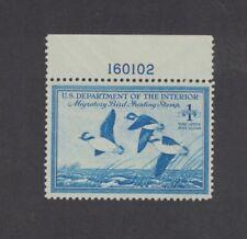RW15 - Federal Duck Stamp.Plate Numbered Single MNH. OG.  #02 RW15bPNS