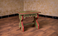 Voglauer Anno 1800 Old Green Cottage Stool Solid Footrest Farmhouse Furniture