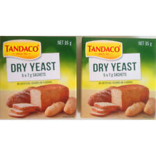 2 x Tandaco Dry Yeast for Baking Bread 35g