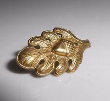 WW2 US Military Acorn Leaf Sterling GF Doctor Pin Medical Service Pinback