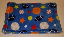 Baby Gear Blue Sports Blanket Lovey Football Soccer Baseball Basketball Star