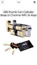 ABS thumb Turn Euro Cylinder Lock. High Security,Anti Snap / Bump / Pick / drill