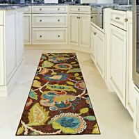 RUNNER RUGS CARPET AREA RUG RUNNERS OUTDOOR CARPET FLORAL PATIO NEW KITCHEN RUGS