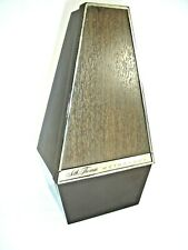 Vintage Seth Thomas Metronome, Mid Century Wood Grain Plastic Case, Works