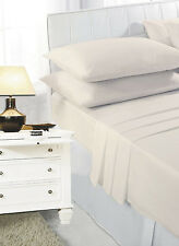 Fitted Bed Sheets Single Double King Super King Size 4ft New Polycotton Plain