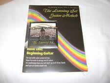 The Learning Set Guitar Method Rainbow Company Book 1 w/SET OF STRINGS ELECTRIC