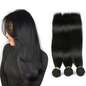 3 Pcs Straight Human Hair Natural color 16inches a total of 150G Extensions Weft