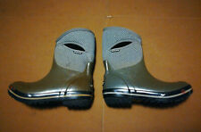 Bogs Herringbone Mid-Calf Green Waterproof Boots Women's Sz 8 Used Free Shipping