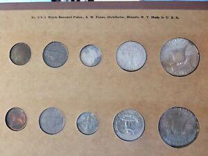 1957 u s mint silver mint set P & D NICE TONING!!