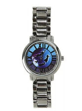 Disney Peter Pan Wendy Flying Ombre Galaxy Metal Band Quartz Accutime Watch New