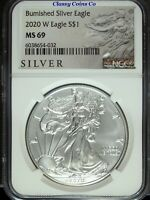 2020 W NGC MS 69 Burnished Silver Eagle ☆☆ West Point ☆☆ Great For Sets