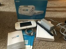 Nintendo Wii U Basic Set 8GB White Handheld System Nunchuck Remote 2 Steer Wheel