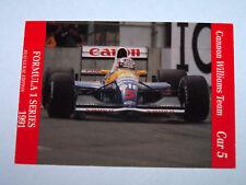 Canon Williams F1 Car #5 | Carms 1991 Formula 1 Series | Racing card #14