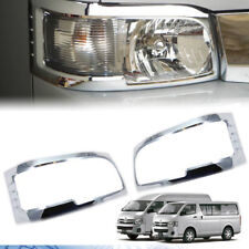 Chrome Front Headlight Cover Trim For Toyota Hiace Commuter 2005-2010