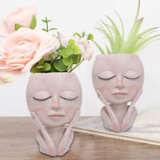 Creative Human Face Flower Pot Vase Portrait Sculpture Succulent Vase Home Decor