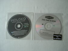 MOLOKO job lot of 2 promo CDs Things To Make And Do Time Is Now Roisin Murphy