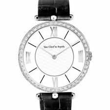 Authentic! Van Cleef & Arpels Pierre Arpels 18K White Gold Diamond 42mm Watch