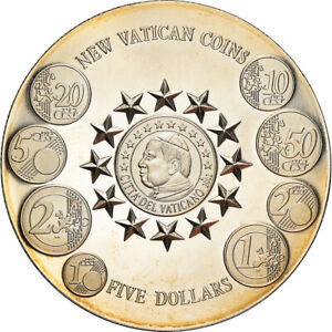 [#181570] Coin, Liberia, New Vatican coins, 5 Dollars, 2004, Proof, MS