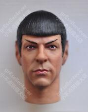 "custom 1/6 scale Spock Head Sculpt Star Trek Zachary Quinto fit 12"" figure"