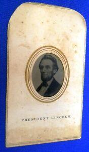 Antique ORIGINAL CIVIL WAR ERA TINTYPE IMAGE PRESIDENT LINCOLN