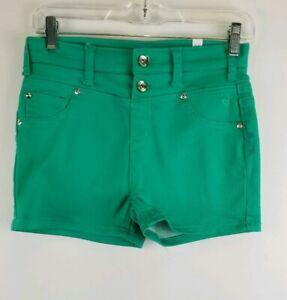 Justice Girl 16 R Green 5 Pocket Jean Shorts