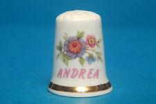 Girl's Name 'Andrea' China Thimble B/93