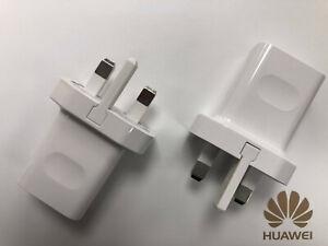 Genuine Huawei HW-050100B01 1A UK 3 Pin Travel Adapter Main Charger Wall Plug