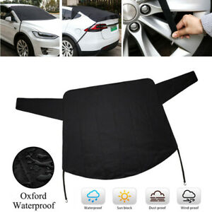 600D Oxford Cloth Car Windshield Winter Snow Cover Sunshade Rainproof Dust Frost
