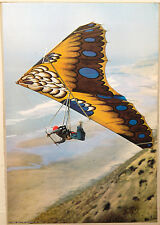 (PRL) DELTAPLANO HANG GLIDER SPORT VINTAGE AFFICHE PRINT ART POSTER COLLECTION