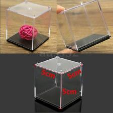 5cm Clear Acrylic Plastic Square Display Box Case Dustproof Tray Protection Cube