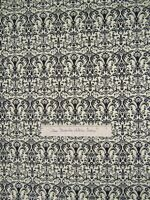 Timeless Treasures Fabric - Noir Black French Influenced Damask on Cream YARD
