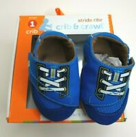 New Stride Rite Baby Boys Blue Crib LiL Speedster Shoes 0-3 M 3-6 M & 6-12 M