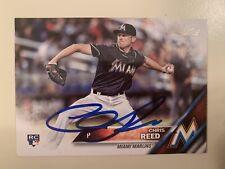 2016 Topps Baseball #631 Chris Reed RC Miami Marlins AUTO Autograph