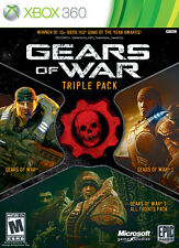 GEARS OF WAR - TRIPLE PACK - JEUX XBOX 360  - COMPLET / CIB