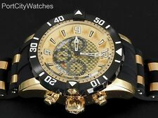Invicta Pro Diver Scuba Gen 3 50mm Chronograph Gold Dial Black Poly Strap Watch