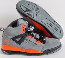 NIKE AIR JORDAN SPIZIKE iD GREY-ORANGE SUEDE SZ 7.5 [605236-993]