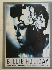 Billie Holiday Flower 18X24 Vintage Poster B/W