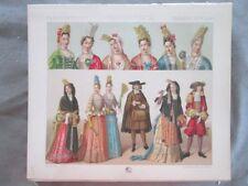 Vintage Print,FRANCE,HABILLEMENT GEMS DE QUALITE,Costume,Historique,1888,Racinet