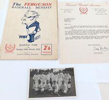 ".SUPER RARE AUSTRALIAN CRICKETERS BASEBALL TEAM 1950 ""FERGUSON BASEBALL BENEFIT"""