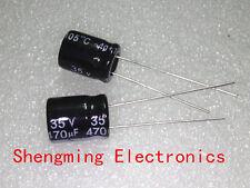 100pcs 470uF 35V Electrolytic Capacitor 35V470UF 10x13mm