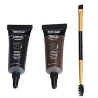 2Pcs Tint Women Eyebrow Henna With Mascara Eyebrows Paint Brush Makeup Be slap N
