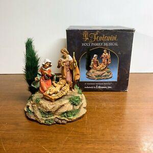 "Vintage Fontanini Heirloom Nativity Holy Family Musical Silent Night w/ Box 5"""