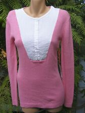 STYLISH Oneteaspoon Lace Front TUNIC JUMPER SIZE 6 PINK RRP$99.95