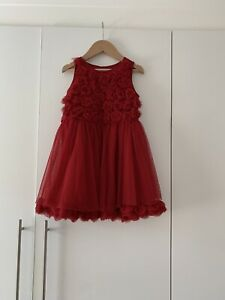 Next Girls Childrens Red Party Dress Age 4-5 Years
