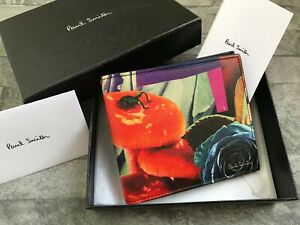 PAUL SMITH ROSE COLLAGE PRINT LEATHER WALLET MADE IN ITALY BNIB