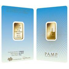 5 gram PAMP Suisse Gold Bar - Ka ´Bah, Mecca (in Assay) .9999 Fine